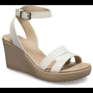 Crocs Leigh wedge heel sandals